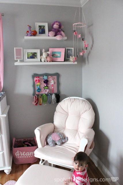 #Nursery #Craft: DIY Headband Hanger made from a picture frame   Spotofteadesigns.com
