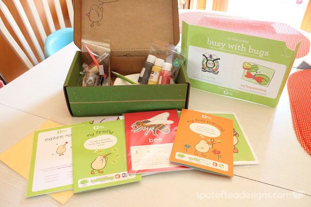 Kiwi Crate Bug Themed Kit contents | spotofteadesigns.com