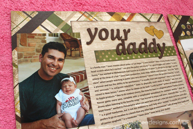"#baby #scrapbook 2 page layout: ""your daddy is..."" 