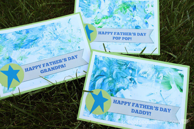 Father's Day Kids Craft Gift: Fingerpaint cards   spotofteadesigns.com