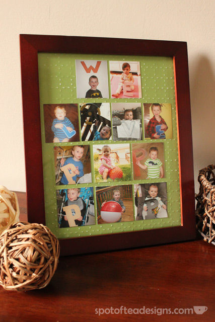 """Father's Day Gift: """"We love Pop Pop"""" Grandkids picture frame 