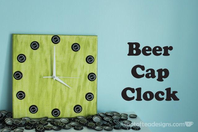 Beer Cap Clock Tutorial | spotofteadesigns.com