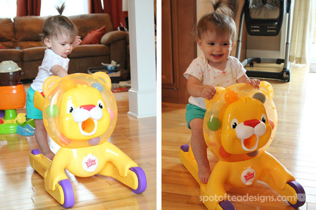 Spotofteadesigns.com reviews Bright Starts Step n Ride Lion | spotofteadesigns.com