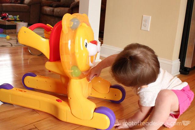 Spotofteadesigns.com reviews Bright Starts 3-in-1 Ride Lion | spotofteadesigns.com