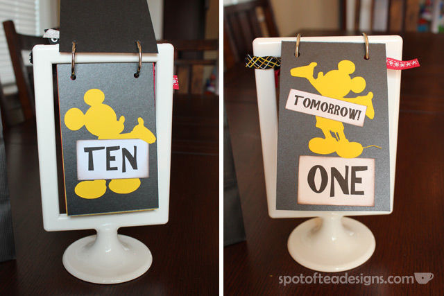 #Disney themed Countdown Calendar: countdown from ten days to one | spotofteadesigns.com