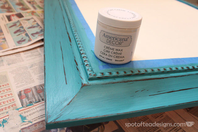 Entry Mirror Makeover with @DecoArt_Inc Americana Chalky Finish Paint   spotofteadesigns.com