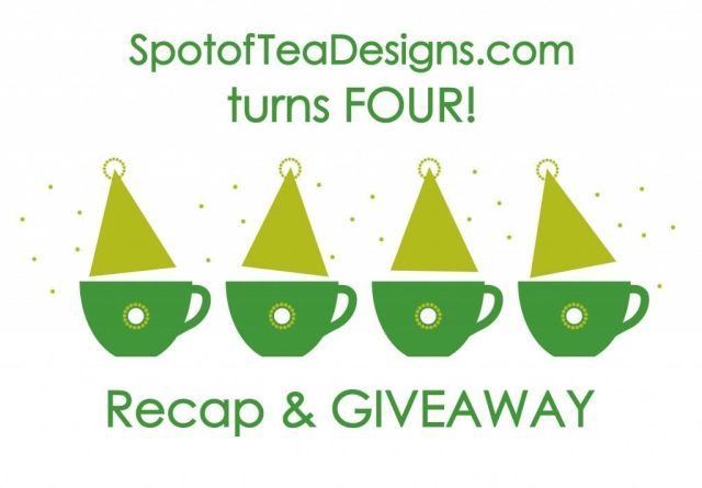 spotofteadesigns.com turns four! Recap on four years with a special handmade giveaway!