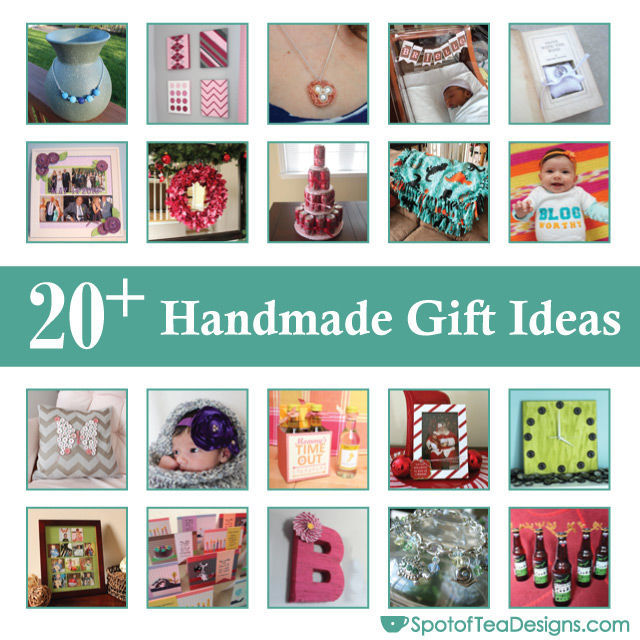 Over 20 Handmade #Gift ideas you can make for the holidays | spotofteadesigns.com