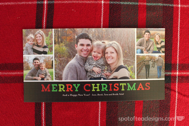 4x8 inch 2014 Holiday photo card created on @Shutterfly | spotofteadesigns.com