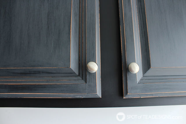 Garage Cabinet Makeover with @DecoArt_Inc Chalky Finish Paint   spotofteadesigns.com