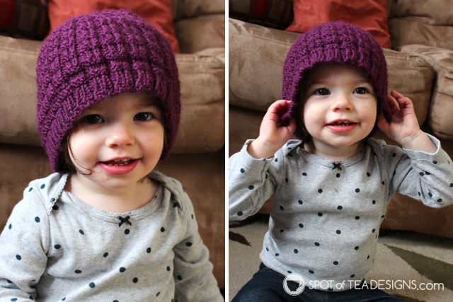 Handmade with Love feature: handmade knit hat for a toddler | spotofteadesigns.com