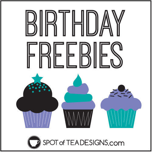 List of Birthday Freebies I received through email lists, store loyalty cards, rewards programs and credit cards | spotofteadesigns.com