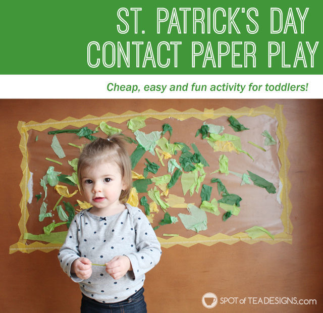 St Patrick's Day Contact Paper Play for Toddlers | spotofteadesigns.com