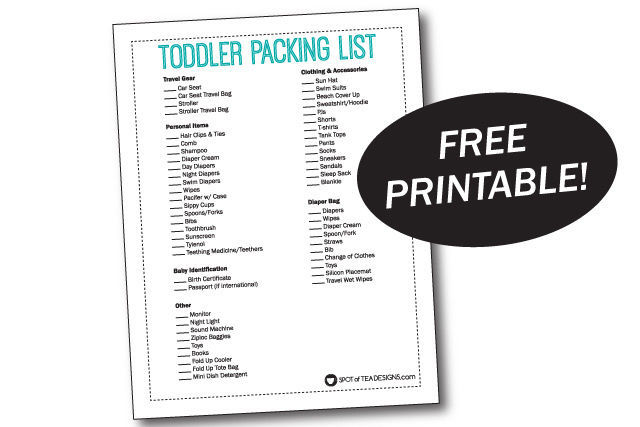 Tips for Traveling with a Toddler plus a free printable Toddler Packing List | spotofteadesigns.com