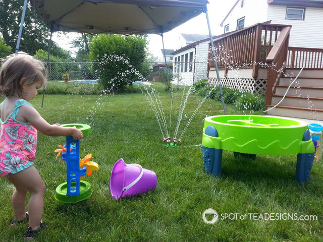 8 must have backyard #toys for #toddlers. Melissa & Doug Sprinkler and make your own water park! #summer #play | spotofteadesigns.com