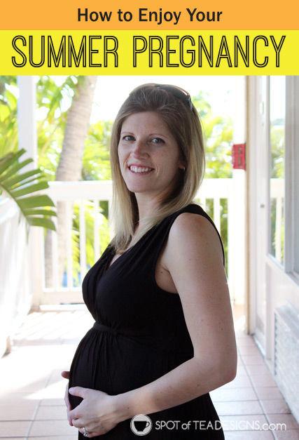 How to Enjoy Your Summer #Pregnancy   spotofteadesigns.com