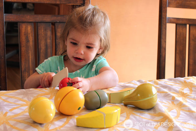 Spotofteadesigns.com #Holiday #gift guide - toddlers will love the Melissa and Doug Cutting Fruit set