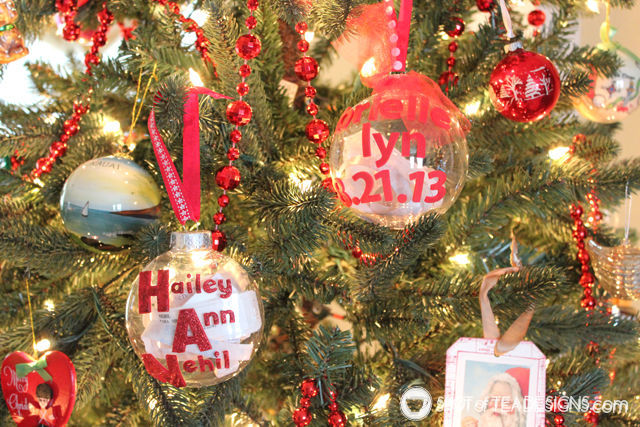 Baby's First #Christmas - Hospital Bracelet #Ornament | spotofteadesigns.com