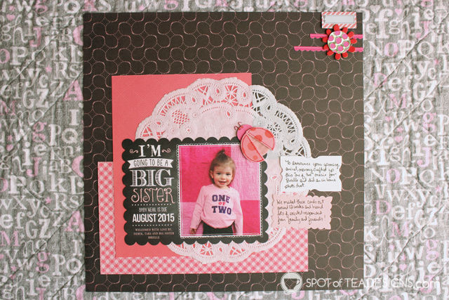Hailey's First Year - Baby #Scrapbook - #PregnancyAnnouncement cards from @TinyPrints | spotofteadesigns.com