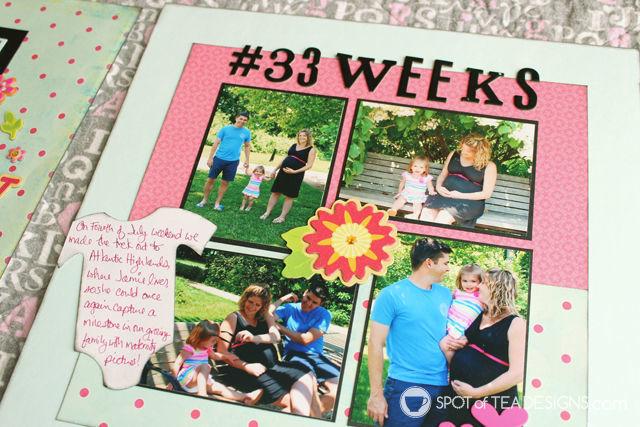 Hailey's First Year - Baby #Scrapbook - #Maternity Photos | spotofteadesigns.com