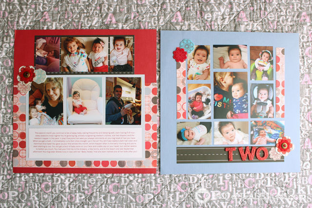 Hailey's First Year - Baby #Scrapbook - two months| spotofteadesigns.com
