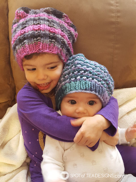 Handmade gifts - handmade knit hats for kids | spotofteadesigns.com