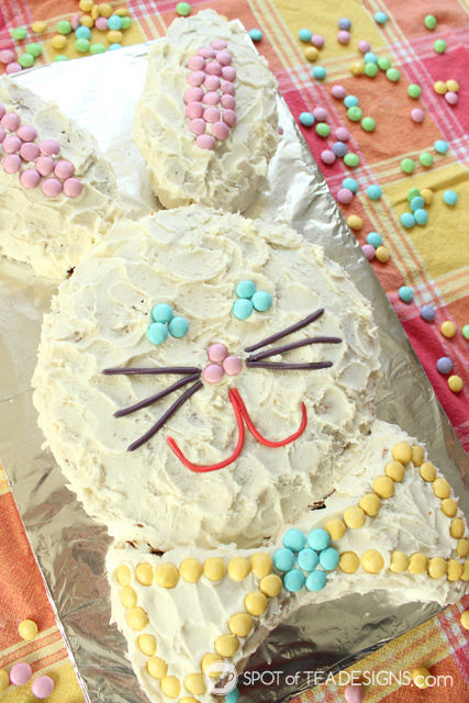 Easter Bunny Cake Tutorial - recipe and decorating tutorial #sweetereaster #shop #cbias #ad