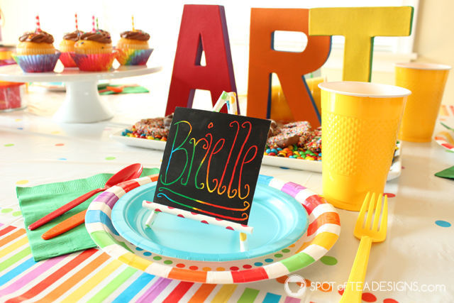 Party Styling Tips & Tricks - #partyplanning paper straw easels | spotofteadesigns.com