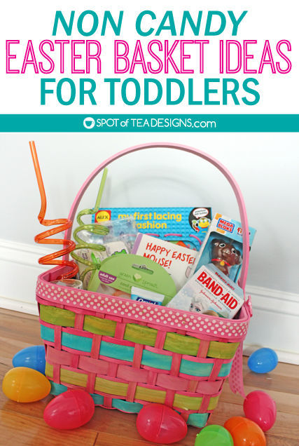 Non Candy #Easter Basket Ideas for a Toddler - from books to art to hygiene and toys | spotofteadesigns.com