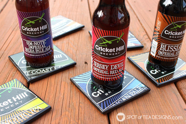 DIY #FathersDay Gift Idea: Turn beer 6 packs into beer coasters. | spotofteadesigns.com