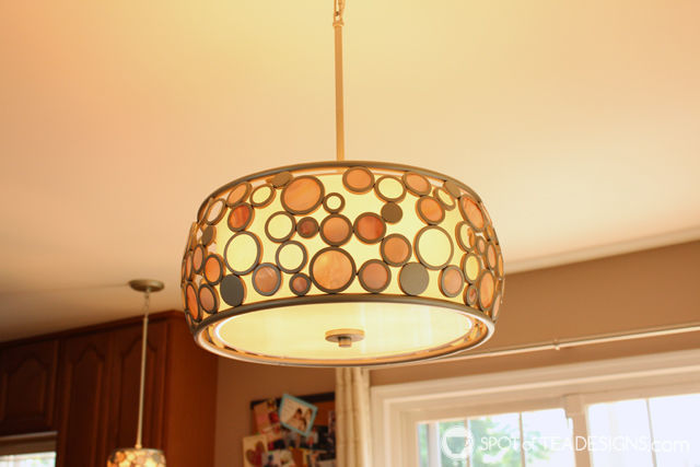 update to the Nehil family home - new kitchen lighting. | spotofteadesigns.com