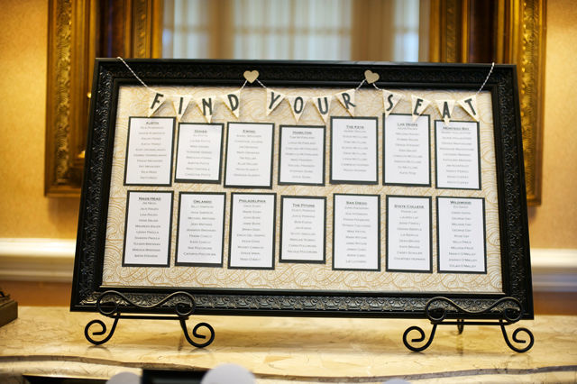 Wedding Table Seating Chart | spotofteadesigns.com
