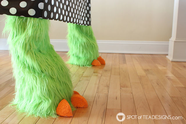 Monster table legs - cute accessory for monster mash #halloween party | spotofteadesigns.com
