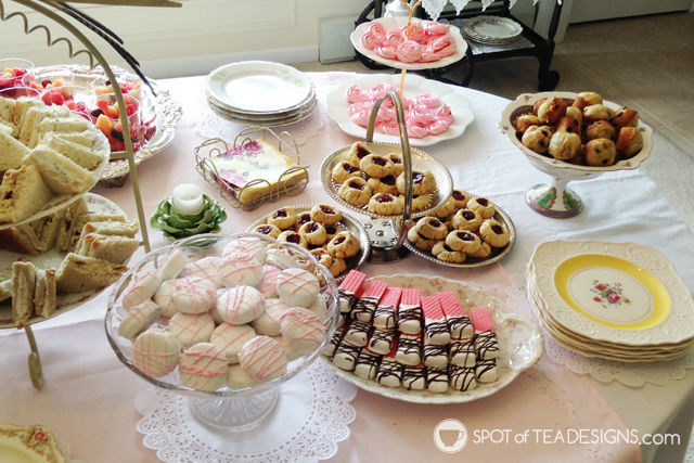 Tea for Two 2nd Birthday Party dessert table | spotofteadesigns.com