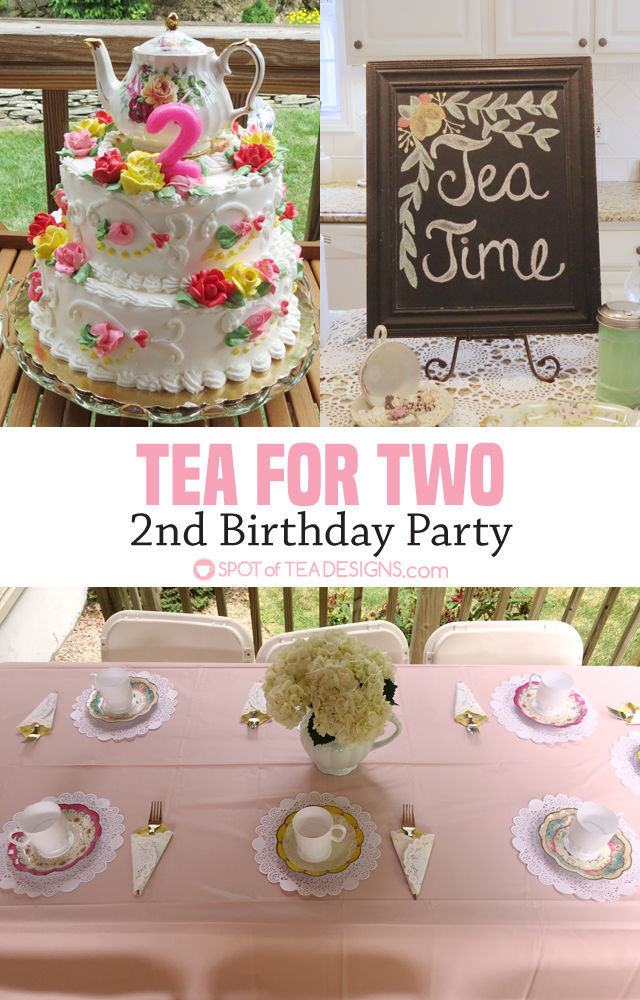 Tea for Two 2nd Birthday Party | spotofteadesigns.com