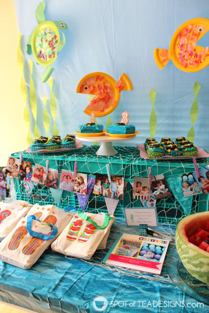 Under the sea #birthdayparty dessert table | spotofteadesigns.com