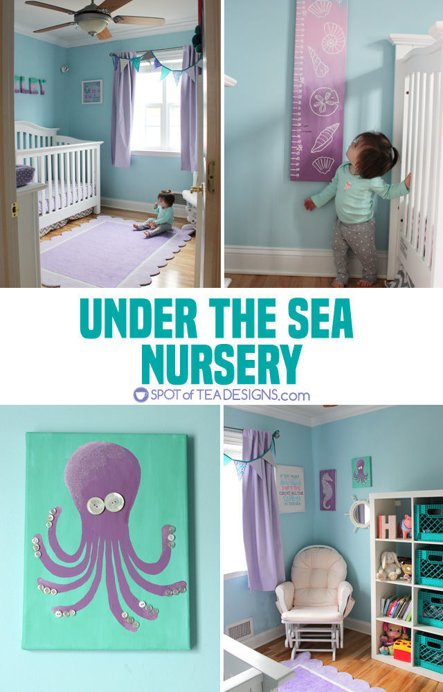 Under the Sea Nursery - #babygirl #nursery | spotofteadesigns.com