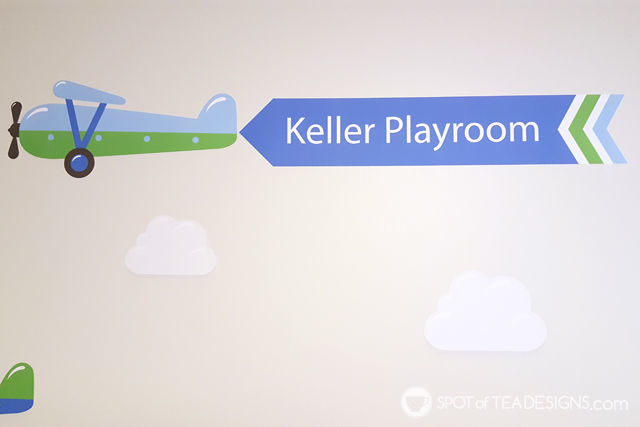 Transportation Themeds Boys Playroom - plane wall decal from @namebubbles   spotofteadesigns.com