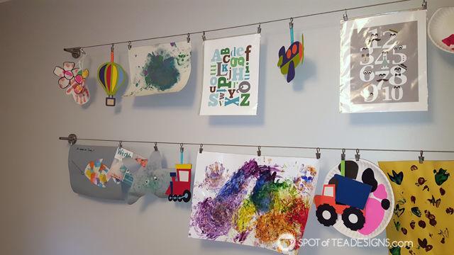 Transportation Themeds Boys Playroom - art display | spotofteadesigns.com
