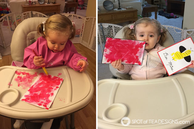 spotofteadesigns.com reader's submission - toddler painting crafts