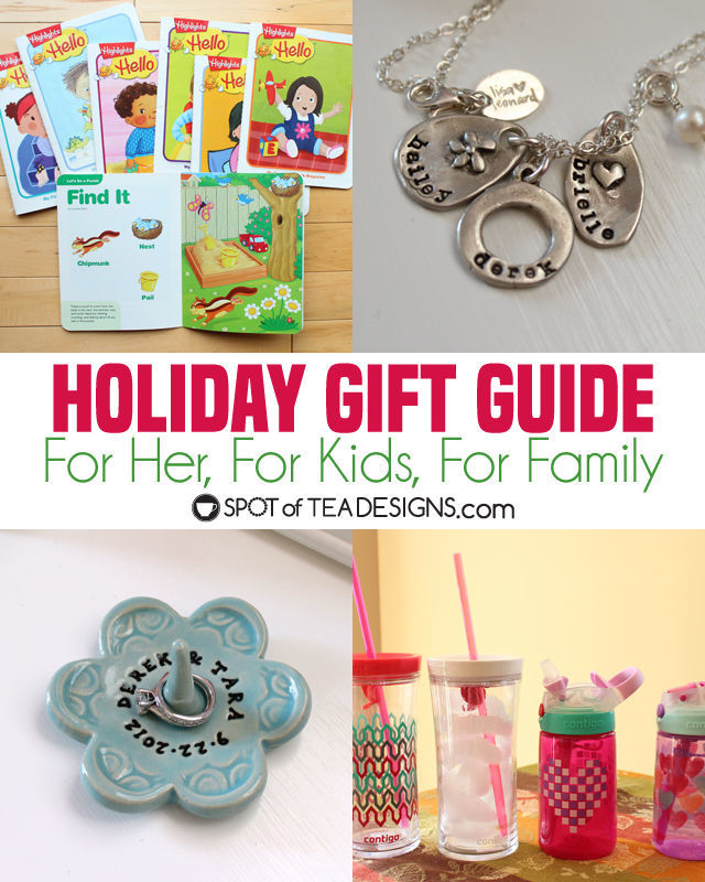 Holiday Gift Guide - gifts for her, for the family and gifts for kids. Things I actually USE and recommend! | spotofteadesigns.com