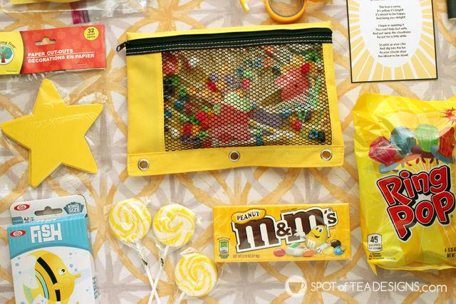 image about Basket of Sunshine Printable titled Box of Sunlight Reward Basket Principle (moreover totally free printable