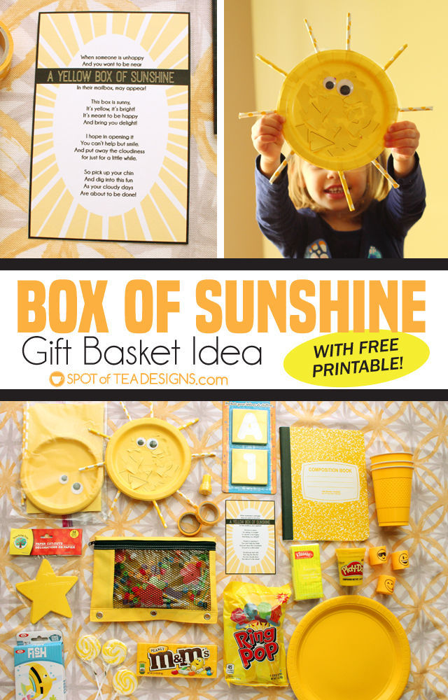 picture about Basket of Sunshine Printable known as Box of Sun Reward Basket Strategy (furthermore absolutely free printable