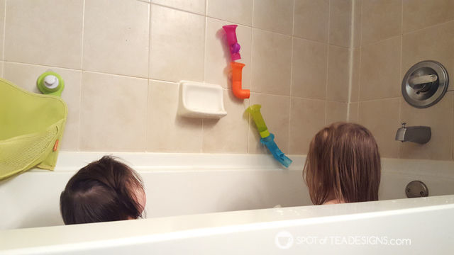 Favorite Products for 3 Year Olds - Boon Water Pipes #STEM activity for bathtime! | spotofteadesigns.com