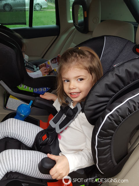 Favorite Products for a 3 year old - mom and toddler approved - booster car seat with cup holders! | spotofteadesigns.com