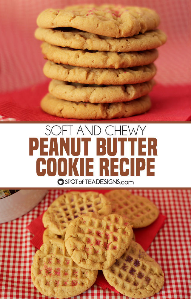 Soft and chewy peanut butter cookie recipe | spotofteadesigns.com