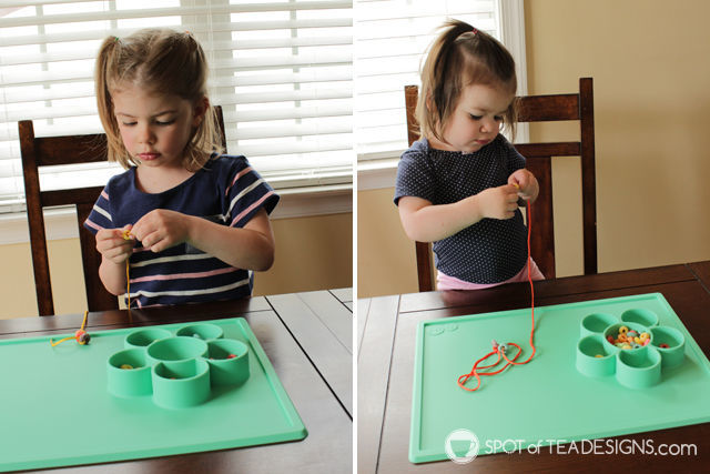 3 hands on activities for toddlers featuring an EZPZ Flower play mat | spotofteadesigns.com