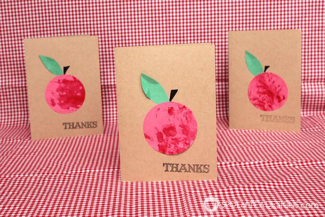 super simple teacher appreciation card kids craft   spotofteadesigns.com