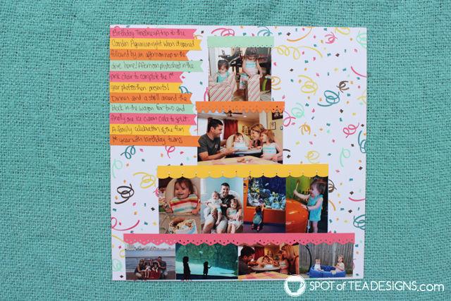Baby's first year scrapbook | spotofteadesigns.com