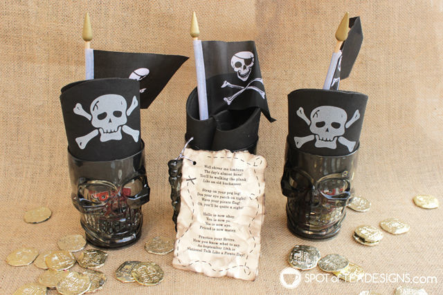 Talk like a pirate day gift idea - free printable tag | spotofteadesigns.com